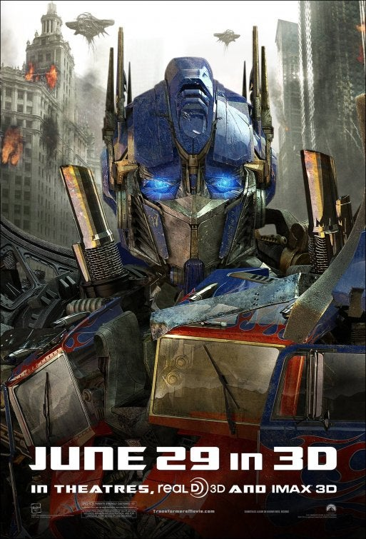 Transformers: Dark of the Moon Character Posters