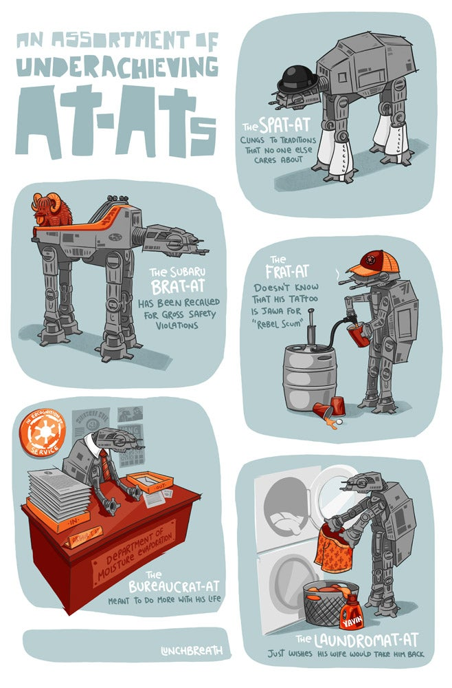Infographic Of Underachieving AT-ATs Is Hilarious