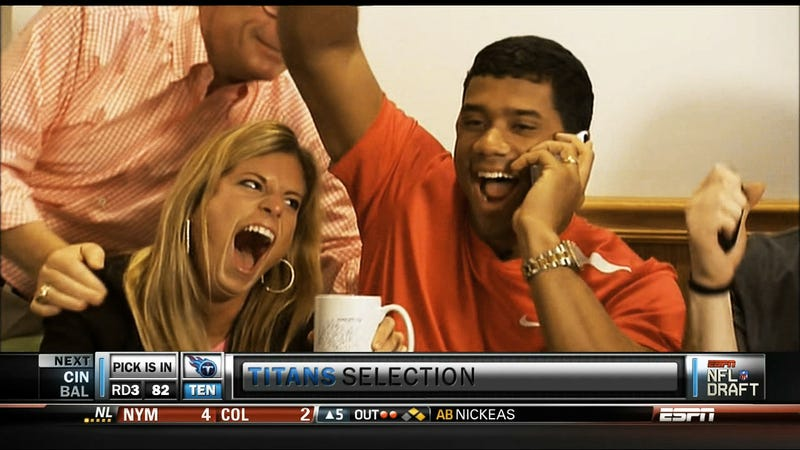 Russell Wilson's Wife Provides Us With Our Favorite Face Of The Draft
