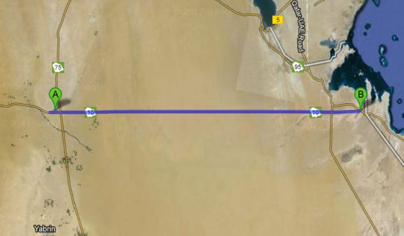 The Longest Straight Roads In The World