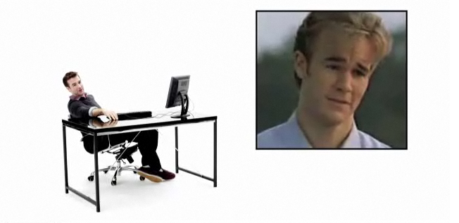 James Van Der Beek Capitalizes on His Dawson Teary Meme