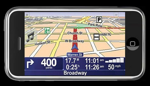TomTom Has Navigation App Already Running On the iPhone; Telenav Likely