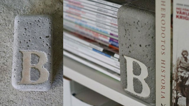 Beautify Your Bookshelf with DIY Concrete Bookends