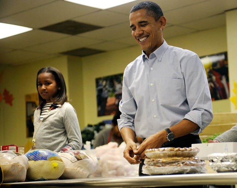 Sasha and Barack Are Thankful For ___________