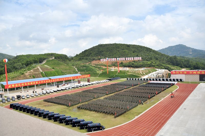 China Sends Small Army, Missile Launchers, and AA Guns to Protect College Sports