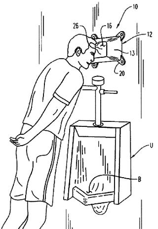 Urinal Headrest Invention Would Make Thomas Edison Proud