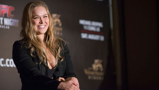 Ronda Rousey, UFC Star, Uses Fight Tactics on WWD Interviewer