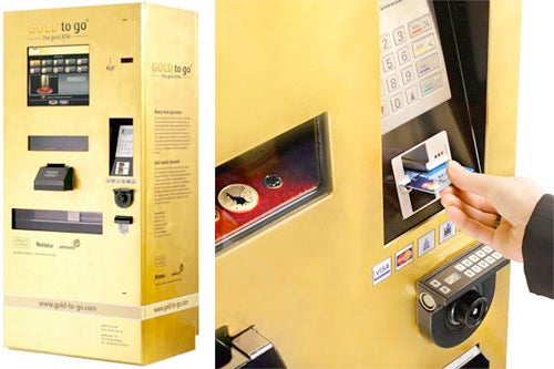 Of Course Gold-Dispensing ATMs Are Coming to the States