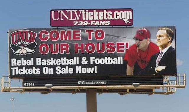 UNLV Billboard Features Coach Who Left Two Years Ago