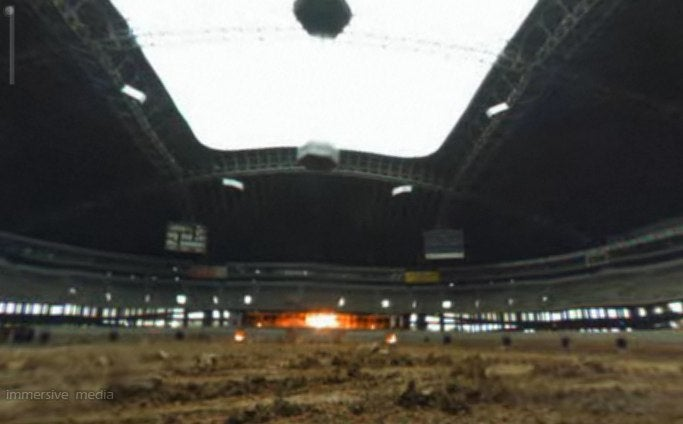 Watch the Dallas Cowboys football stadium implode - from inside