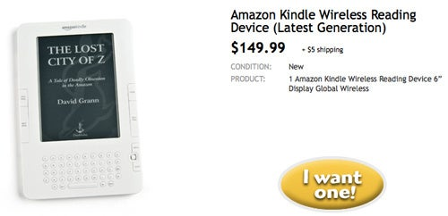 Kindle Available for $150 In One-Day Woot Sale
