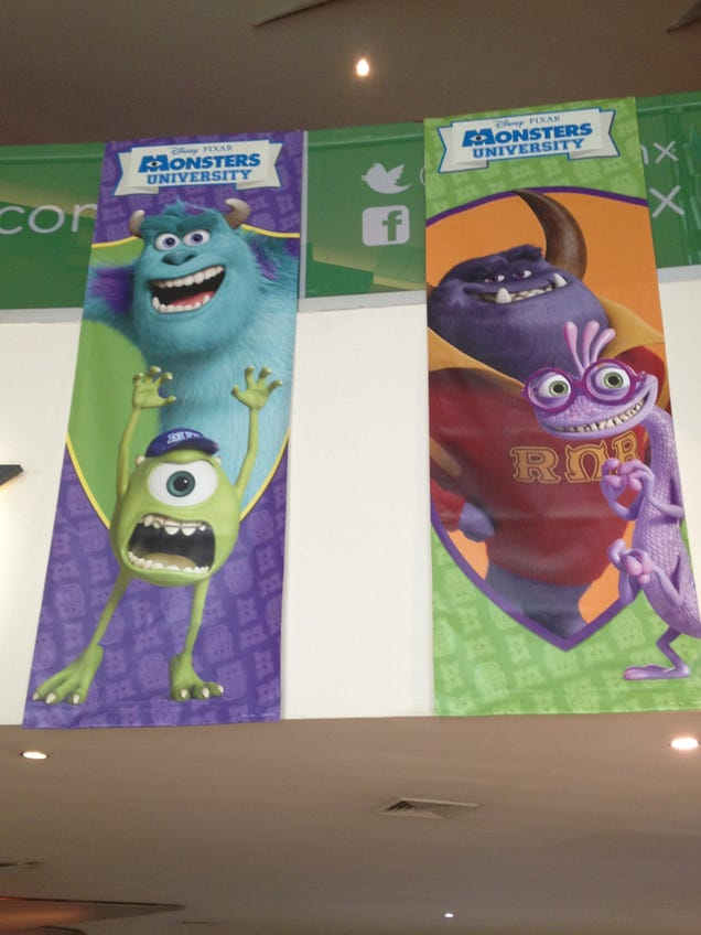 Monsters University banners reveal the villainous Monster Frat
