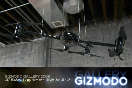 Today @ Giz Gallery '09: Mud Computers and Exclusive Spy Drones!