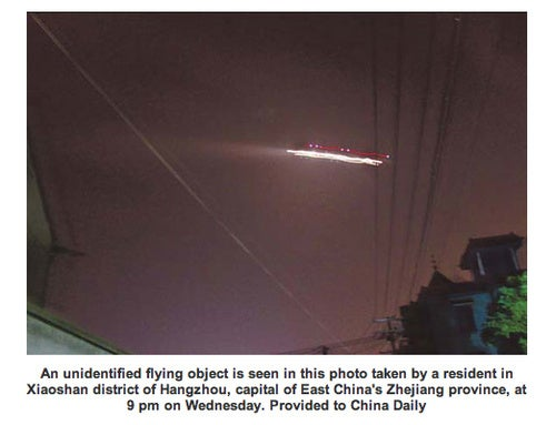 UFO Temporarily Shuts Chinese Airport, Remains a Mystery