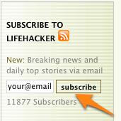 Get Lifehacker Updates via Twitter, Email