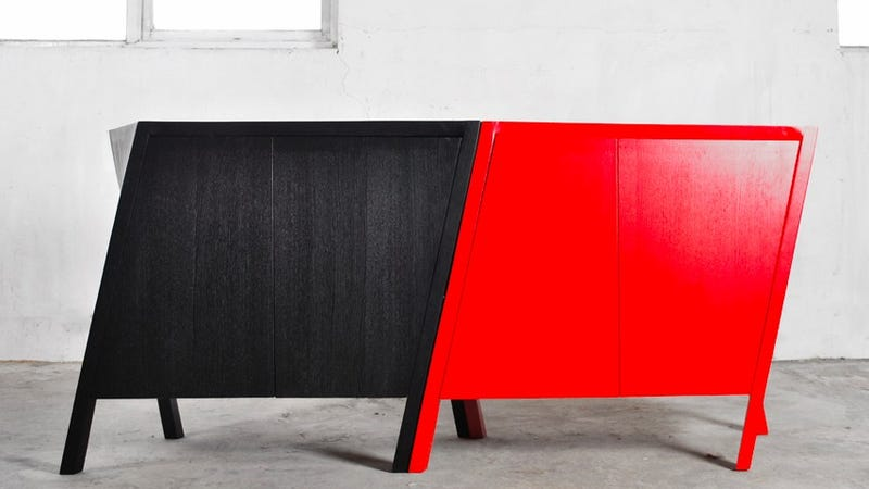 This Twisted Cabinet Wants to Strut Across Your Living Room