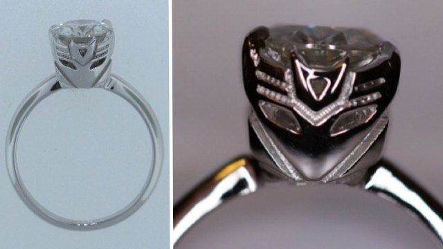Transformers engagement ring brings Michael Bay into your marital bed