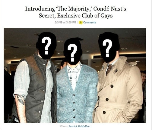Gay Secret Society Members Exactly Like Everyone Else at Conde Nast