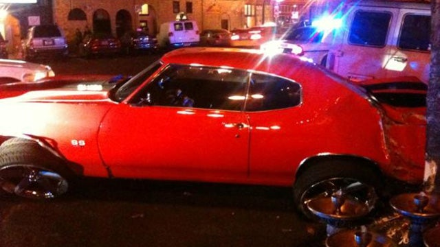 NFL player Ndamukong Suh crashes his 1970 Chevrolet Chevelle