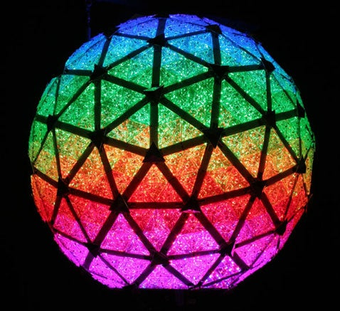 Shiny LEDs Ring In the New Times Square New Year's Ball