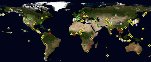 Disaster Alert Map Shows Where the World is Ending