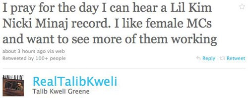 Talib Kweli Wants More Ladies