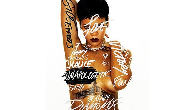 Rihanna Tweets Her New Topless Album Cover