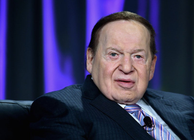 Conservative Toad Sheldon Adelson To Dump $100 Million on Donald Trump's Campaign