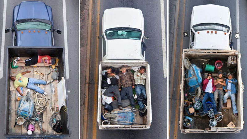The Art Of Men Riding In Trucks
