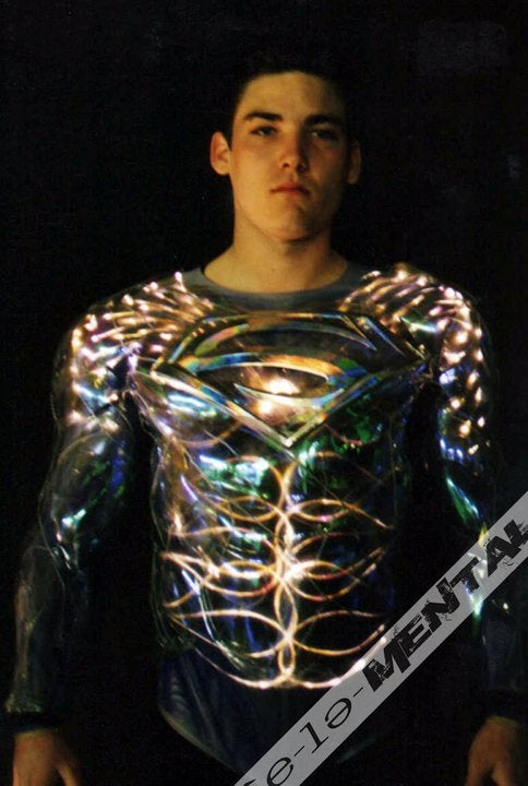 Here's the electric disco costume from Tim Burton's failed 1998 Superman movie