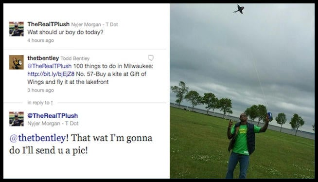 Brewers Fan Tells Nyjer Morgan To Go Fly A Kite, So Nyjer Morgan Goes And Flies A Kite