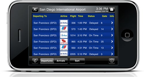 AirportRemote Monitor App Turns Your iPhone Into A Flight Board