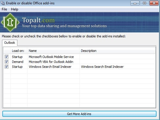 TopAlt EnableDisable Makes Office Add-On Management a Snap