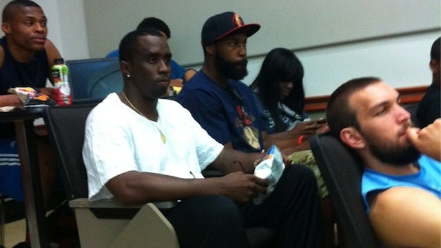 Diddy Goes To School With Russell Westbrook And Baron Davis