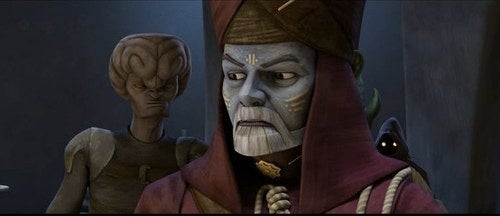 First look at George Lucas' CG cameo in Clone Wars