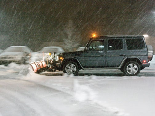 Plowing Maine In A Mercedes G-Wagen
