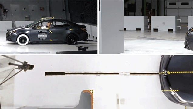 I Can't Stop Watching The 2014 Toyota Corolla Fail This Crash Test