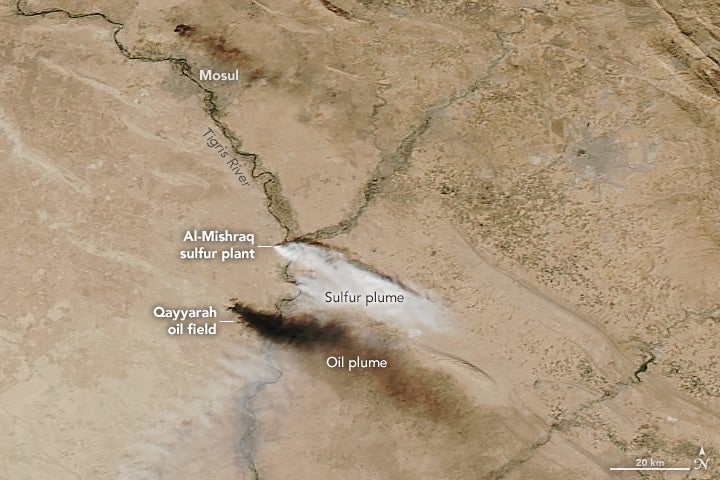 An Enormous Cloud of Toxic Sulfur Is Spreading Across Iraq