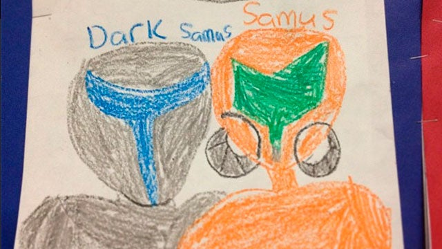 What Metroid Looks Like Through the Eyes of a 2nd Grader