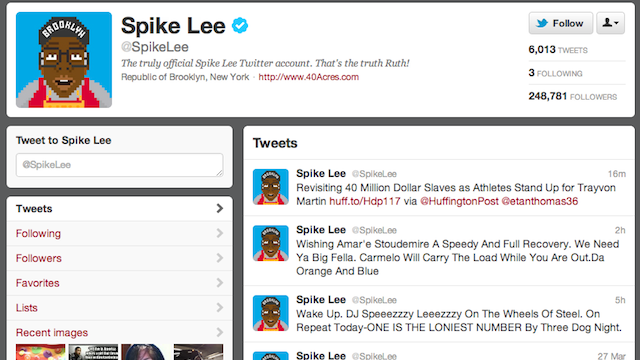 Spike Lee Accidentally Tweeted the Address of an Elderly Couple Thinking It Was Trayvon Martin's Shooter