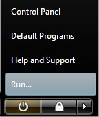 Restore the Run Command to the Vista Start Menu