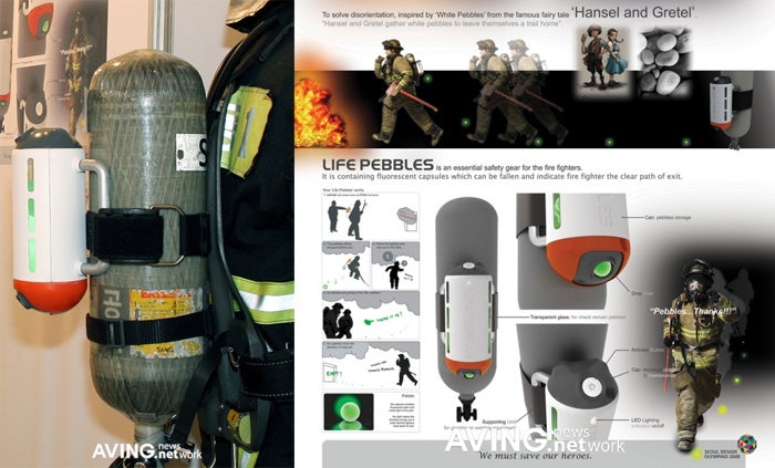 Firefighters To Find Their Way Out Of Burning Buildings With... Glowing Neon Balls?