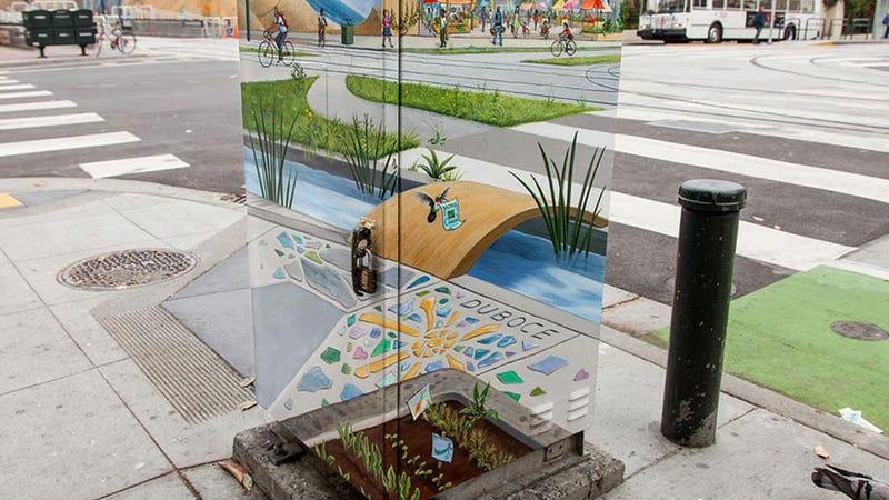 San Francisco MTA Utility Box Becomes Portal To Glimpse A Utopia