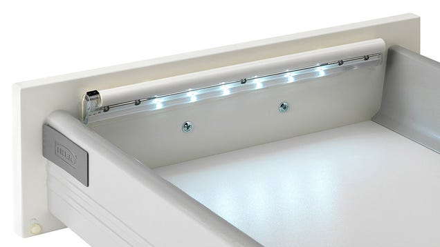 ikea 39 s led strips automatically illuminate the deepest darkest drawers. Black Bedroom Furniture Sets. Home Design Ideas