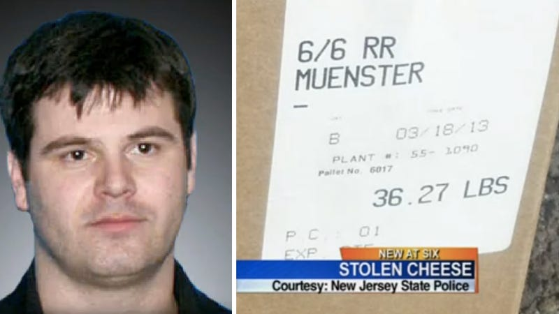 Trucker Busted With 42,000 Pounds Of Stolen Muenster Cheese
