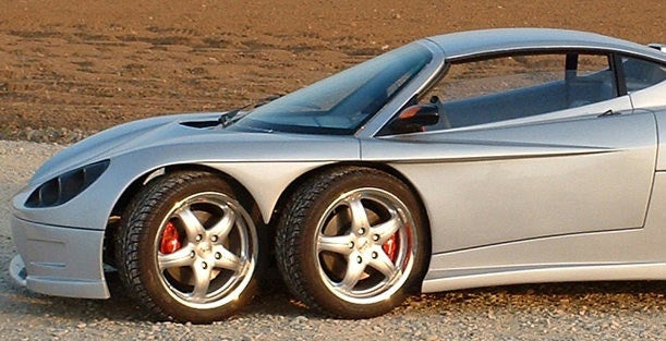 The Corvini C6W Six-Wheel Speedster Is Actually Being Built