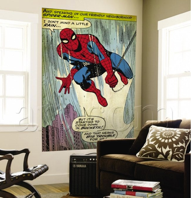 "Classy Marvel comics murals say: ""I'm an adult, sort of"""