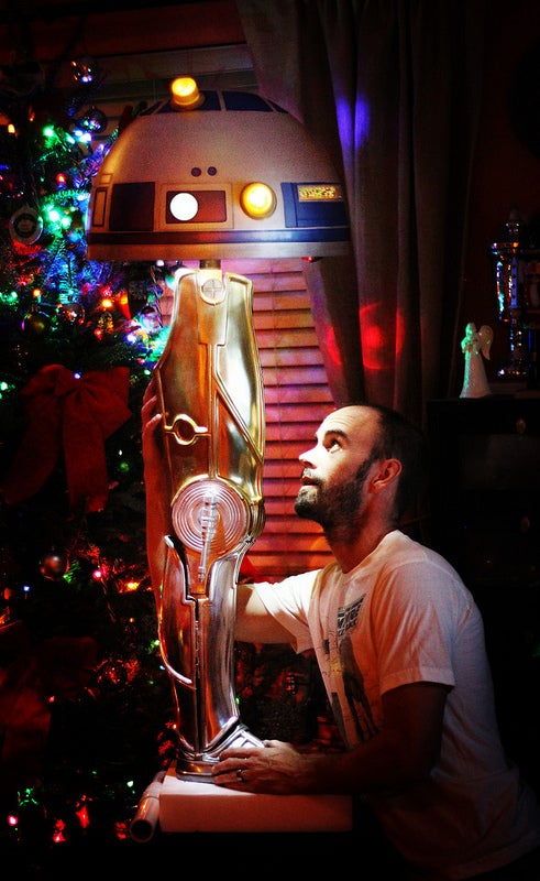 Star Wars/A Christmas Story Droid leg lamp is a Major Award