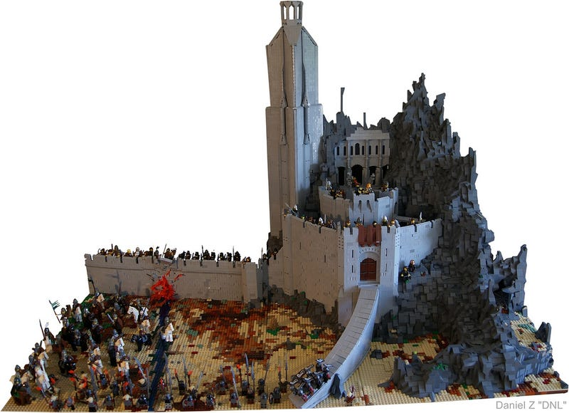 This is how you make Helm's Deep out of LEGO