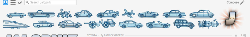 How many US cars are in the Jalopnik header bar?